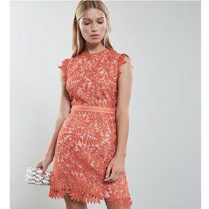 Reiss Maika Open Back Crochet Lace Dress